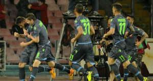 Napoli-Dnyipro Európa Liga-elődöntő - fotó: EPA/Ciro Fusco