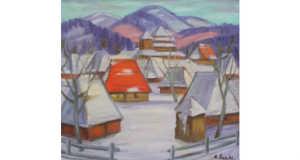 Hucul falu télen (1970) Forrás: www.gs-art.com