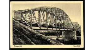 Tiszaújlak hídja 1941-ben Fotó: www.postcards.hungaricana.hu