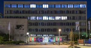 A Magyar Rádió 1969-ben épült Központi Irodaépülete a fõváros VIII. kerületében a Pollack Mihály tér 4-6-ban. Fotó: Róka László / MTI