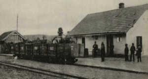 Beregkisfalud vasútállomása, 1911 (Fotó: www.irshava-foto.org.ua)