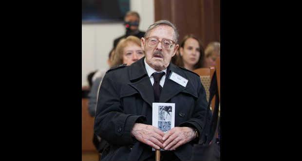 Gulácsy Lajos  a  a Genius Jótékonysági Alapítvány Megkötések nélkül 1956-ról című konferenciáján Beregszászban, 2016. november 4-én Fotó: Fülöp László