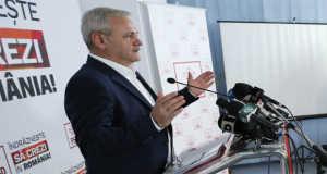 Liviu Dragnea, a PSD elnöke (EPA/ROBERT GHEMENT)