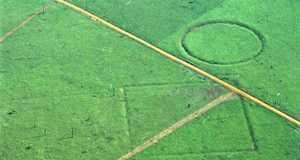 Az 1970-es években erdőirtás során felfedezett geoglifák az Amazonas mentén
