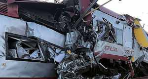 baleset vonat