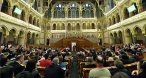 Lezsák Sándor, az Országgyűlés alelnöke beszél a Kárpát-medencei Családszervezetek Szövetsége konferenciáján az Országházban 2017. február 18-án. MTI Fotó: Illyés Tibor