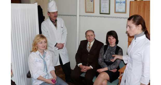 Kollégákkal (Fotó: www.mukachevo.net)