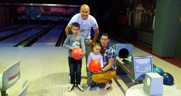 Babett a családjával