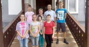 A Verbócki család egy része Karácsfalván