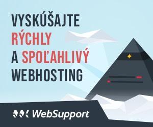 Sponzorovaný hosting od spoločnosti WebSupport.sk